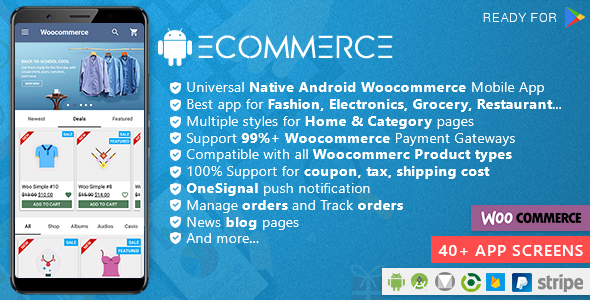 Android Woocommerce – Universal Native Android Ecommerce / Store Full